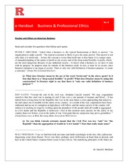 eHandout 8 -Drucker and Others on Business