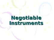 Chapter 3 - Negotiable Instruments