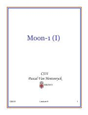 Lecture 9 - Moon