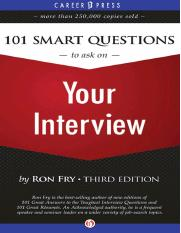 101 Smart Questions to Ask on Your Interview, 3rd Edition