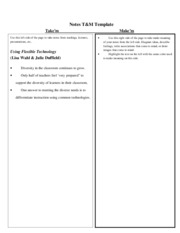 Notes T&M template