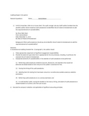 Auditing Research Memo- Project 4