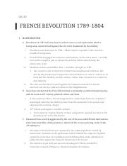 French Revolution Notes HIS 3107.docx