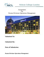 Rooms Divisions Operations Management