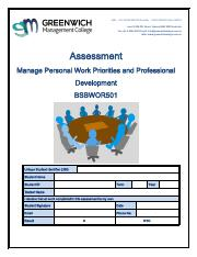 Assessment - Manage Personal Work Priorites and PD BSBWOR501.pdf