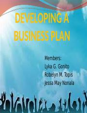 Chapter 7 - Developing a Business Plan.pptx