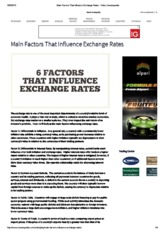 Main Factors That Influence Exchange Rates - Video _ InvestopediaCHP2