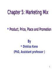 Chapter 5 Marketing Mix 5.1.ppt