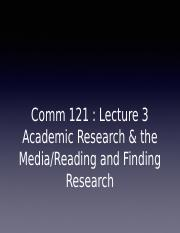 Lecture 03 - Academic research & the media