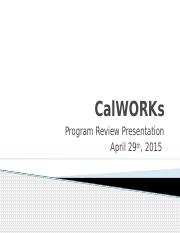03 - Program Review 2014-2015 CalWORKs.pptx