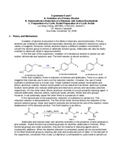 Experiment 6-7 - Oxidation, diketone, and cyclic acteal Lab Report