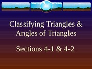 4-1 and 4-2  Angles of a Triangle