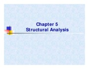CV2101 Chapt 5 Structural Analysis