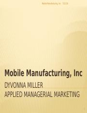 Mobile Manufacturing