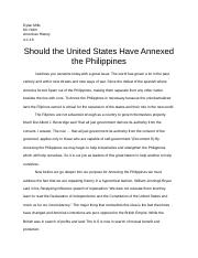 Should the United States Have Annexed the Philippines