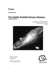 The Hubble Redshift Distance Relation 3-21-2014