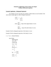 MATH24 Applications of Linear DE Examples with Solutions