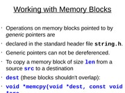 Working with Memory Blocks