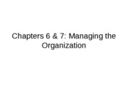 Lecture 7  Managing the Organization