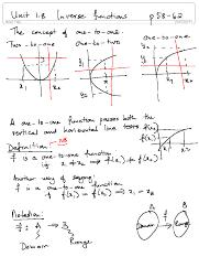 Unit 1.8 Inverse functions(1)