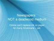 Newspapers(ppt)