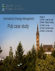ISM group17 pub case study