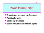 5. Payout Policy