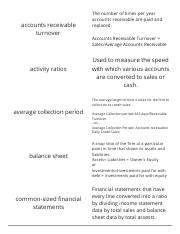 Finance-Chapter 2-Financial Statements and Ratio Analysis-Vocabulary Flashcards