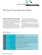 fifty tips for your statement of work