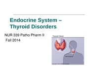 patho 2 Endocrine System Thyroid notes
