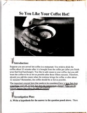 So You Like Your Coffee Hot! Lab