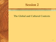 Session 2- Global n Cultural context