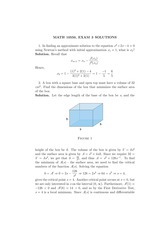 MATH 10550 Fall 2008 Exam 3 Solutions