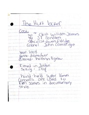 The Hurt Locker Notes