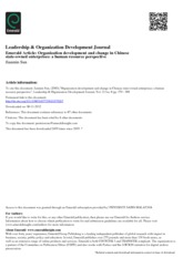 organization development and change in chinese state owned enterprises