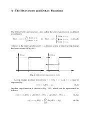 The HEAVISIDE and DIRAC Functions