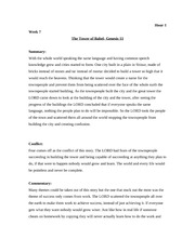 Week 7 the tower of babel allusion card