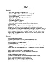 CSR 344 Review Questions for Midterm Exam(1)