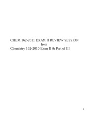 Chem 162-2011 review session exam II