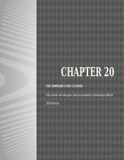 Chapter 20 - The Emperor's New Clothes