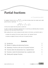 Partial Fraction