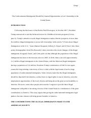What Is The Thesis Of An Essay  Pages Draft Of Research Paperdocx Argument Essay Thesis also Compare And Contrast Essay Examples For High School Argumentative Essay Illegal Immigration  Illegal Immigrants A  English Essay Writer