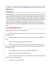 Unit 6- Career Developemnt and Work-Life Balances.docx