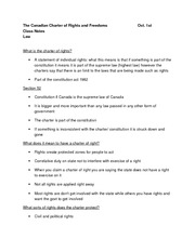 The Canadian Charter of Rights and Freedoms lecture notes 1