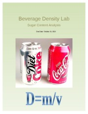 Beverage Density Lab Report