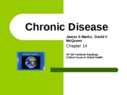 7- Ch 14, Chronic Disease, Critical Issues in Global Health