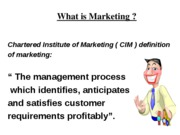 L1-Marketing in a changing world