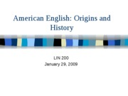 Class 2 [AMERICAN ENGLISH - ORIGINS AND HISTORY] 09jcw