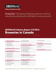 31212CA Breweries in Canada Industry Report