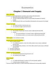 Econ-Chapter 2 Demand and Supply